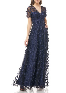 Carmen Marc Valvo Infusion 3D Flower Gown