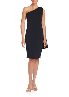 Carmen Marc Valvo Infusion Asymmetrical Solid Dress