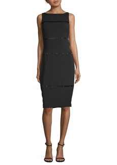 Carmen Marc Valvo Beaded Cocktail Dress