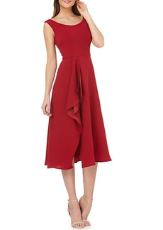 Carmen Marc Valvo Infusion Cascade Dress