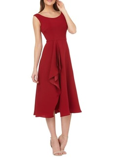 Carmen Marc Valvo Infusion Crepe Cocktail Dress