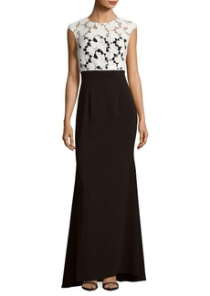 Carmen Marc Valvo Infusion Crepe Strapless Gown