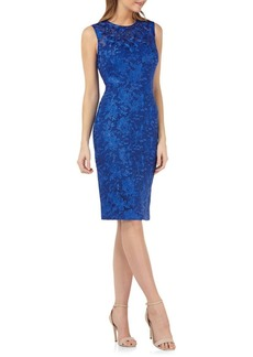 Carmen Marc Valvo Infusion Embroidered Lace Cocktail Dress