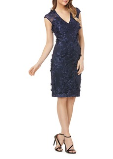 Carmen Marc Valvo Infusion Floral Appliqu� Dress