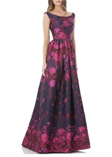 Carmen Marc Valvo Infusion Floral Ball Gown