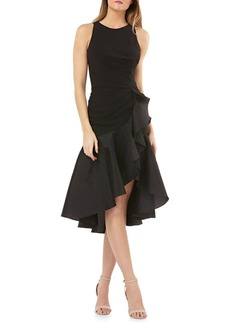 Carmen Marc Valvo Infusion Hi-Lo Fit-and-Flare Cocktail Dress