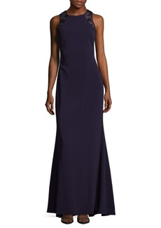 Carmen Marc Valvo Infusion Lace Embroidered Dress