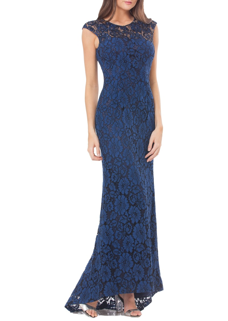 Carmen Marc Valvo Carmen Marc Valvo Infusion Lace Gown with Train ...