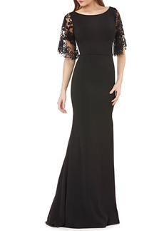 Carmen Marc Valvo Infusion Lace Evening Dress