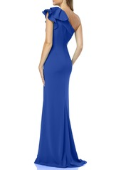Carmen Marc Valvo Infusion One-Shoulder Gown