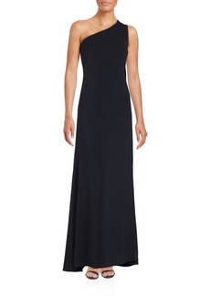 Carmen Marc Valvo Infusion One Shoulder Gown