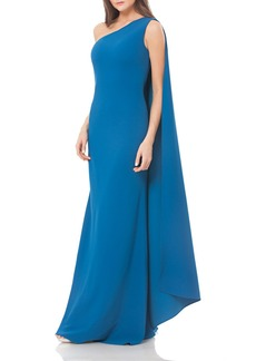 Carmen Marc Valvo Infusion One Shoulder Stretch Gown