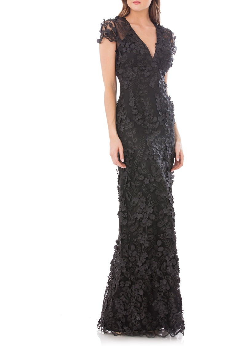 Carmen Marc Valvo Carmen Marc Valvo Infusion Petals Embellished Gown ...