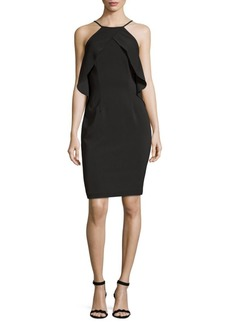 Carmen Marc Valvo Ruffle Cocktail Dress