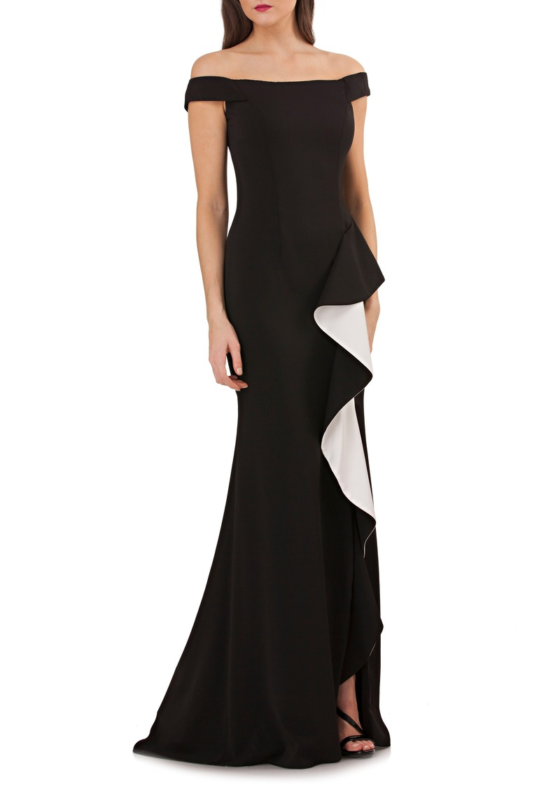 Carmen Marc Valvo Carmen Marc Valvo Infusion Ruffle Off the Shoulder ...