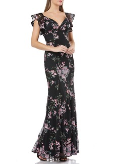 Carmen Marc Valvo Infusion Sequin Evening Dress