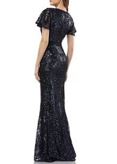 Carmen Marc Valvo Infusion Sequin Gown