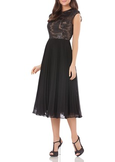 Carmen Marc Valvo Infusion Sequined Bodice Dress