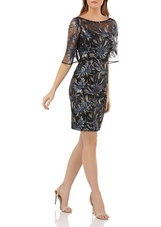 Carmen Marc Valvo Infusion Sequined Cocktail Dress