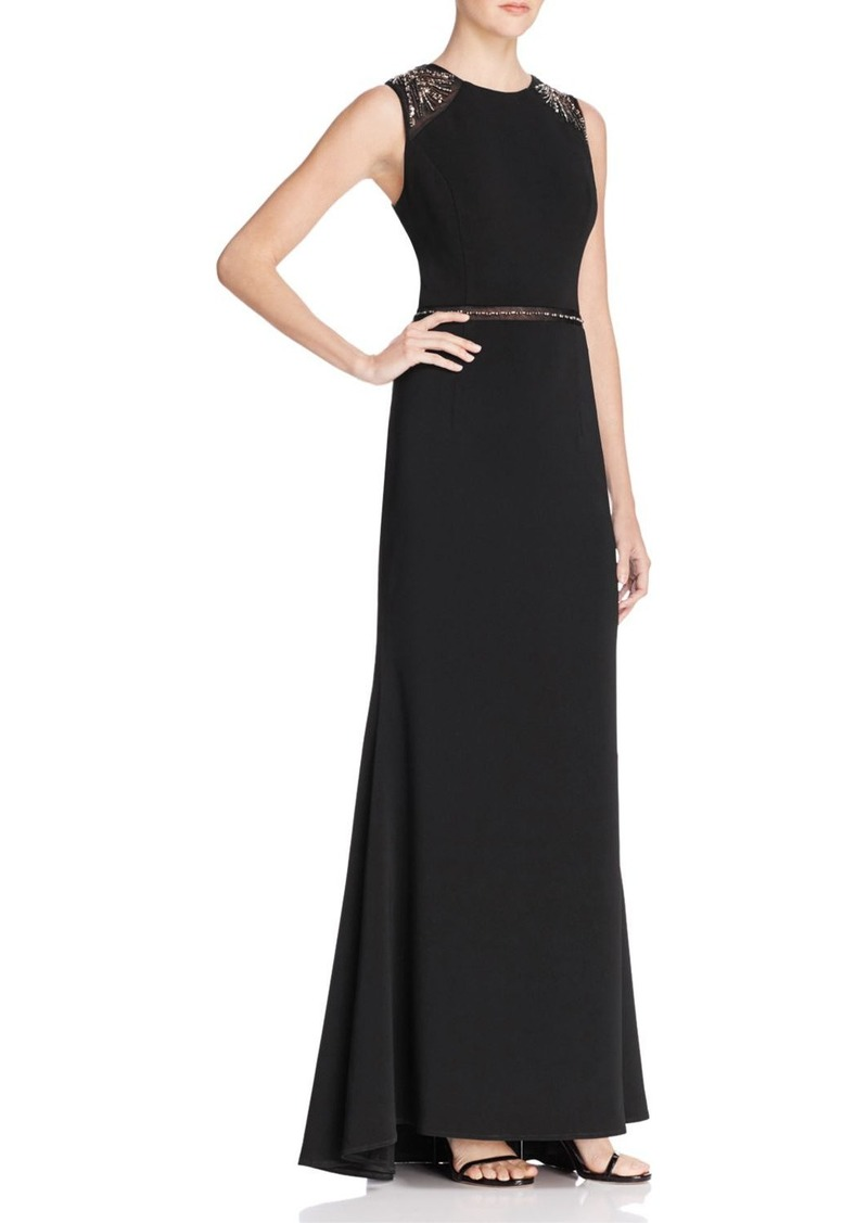 Carmen Marc Valvo Infusion Sleeveless Embellished Gown