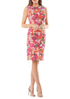 Carmen Marc Valvo Infusion Sleeveless Floral Cocktail Dress