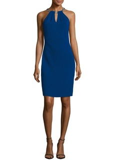 Carmen Marc Valvo Infusion Solid Halter Dress