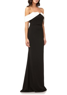 Carmen Marc Valvo Infusion Strapless Mermaid Gown