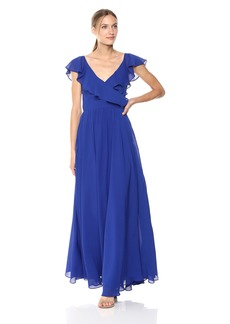 Carmen Marc Valvo Infusion Women's Chiffon Gown w/Ruffle