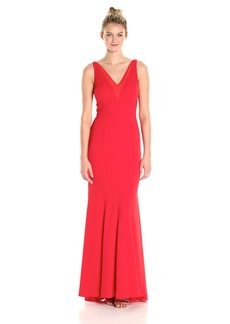 Carmen Marc Valvo Infusion Women's Deep V Neck Gown