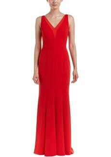 Carmen Marc Valvo Infusion Women's Deep V Neck Gown
