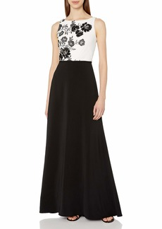Carmen Marc Valvo Infusion Women's Floral Bodice Gown