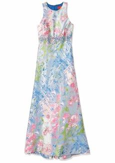 Carmen Marc Valvo Infusion Women's Floral Halter Gown