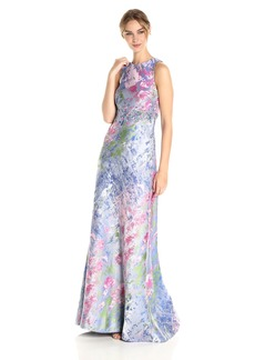 Carmen Marc Valvo Infusion Women's Floral Halter Gown