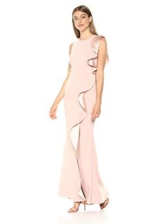 Carmen Marc Valvo Infusion Women's Gown Ruffle Flounce