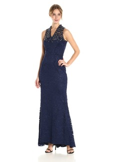 Carmen Marc Valvo Infusion Women's Gown with Lace Top