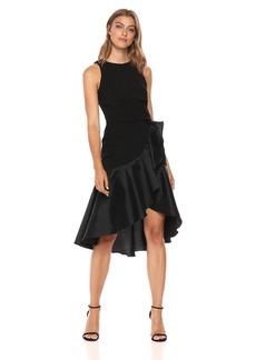 Carmen Marc Valvo Infusion Women's Jewel Neck Cocktail Dress