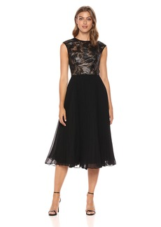 Carmen Marc Valvo Infusion Women's Jewel Neck Coctail Dress
