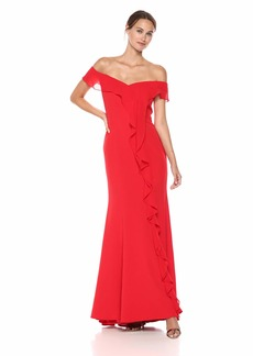 Carmen Marc Valvo Infusion Women's Off The Shoulder Gown