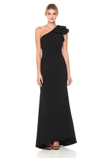 Carmen Marc Valvo Infusion Women's One Gown with Ruffle on Shoulder