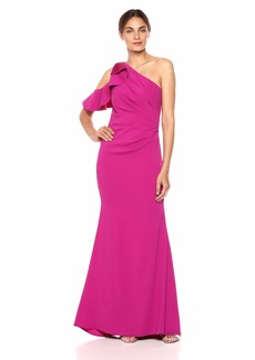 Carmen Marc Valvo Infusion Women's one shlder Gown deep Fuchsia