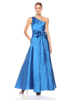 Carmen Marc Valvo Infusion Women's One Shoulder Taffeta Gown