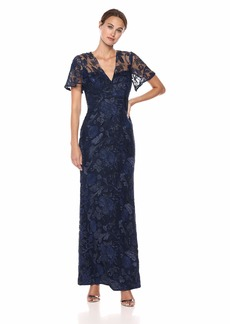Carmen Marc Valvo Infusion Women's Sequin threadwork Gown
