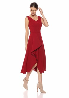 Carmen Marc Valvo Infusion Women's Short Ruffle Side Dress