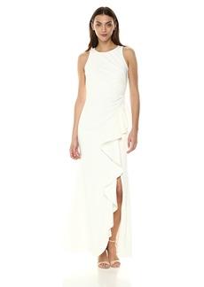 Carmen Marc Valvo Infusion Women's Sleeveless Gown w/Cascade Ruffle