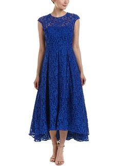 Carmen Marc Valvo Infusion Women's Sleeveless Lace Hi Low W/Beaded Accents On Neckline
