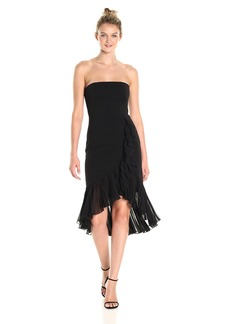 Carmen Marc Valvo Infusion Women's Strapless Ruffle Dress