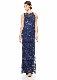 Carmen Marc Valvo Infusion Women's threadwork Embroidered Gown