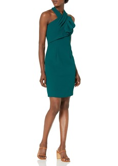 Carmen Marc Valvo Infusion Women's Twisted Neck Cocktail Dress