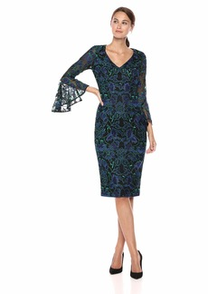 Carmen Marc Valvo Infusion Women's V Front COKTAIL Dress