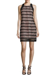 Carmen Marc Valvo Lace Overlay Shift Dress